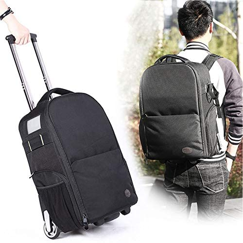 2 in 1 Camera Backpack with Wheels Labor Saving DSLR
