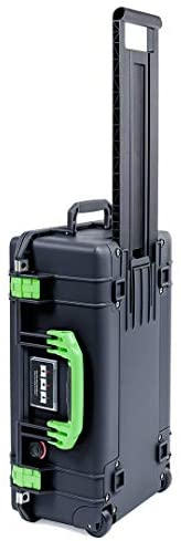 Black Pelican 1535 Air case with Lime Green Handle