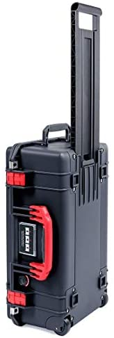 Black Pelican 1535 Air case with Red Handle latches