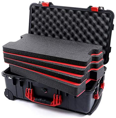 Black Red Pelican 1510 case with Custom Tool Control