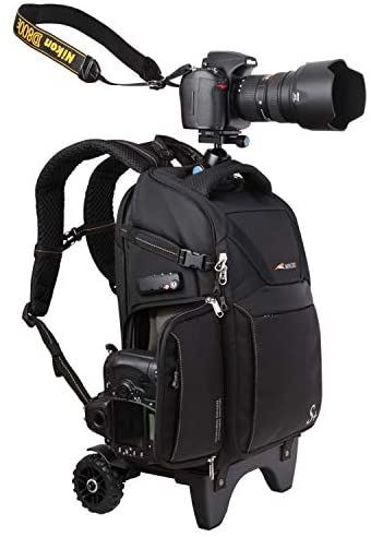 Multifunction Camera Backpack Black Side Access and Trippod Holder with