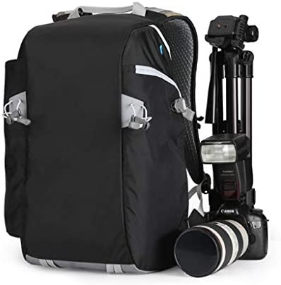 AHWZ Digital SLR Camera Backpack w156 Laptop Compartment Featuring Padded