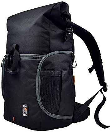Ape Case, Maxess Rolltop, Black, Water-resistant, Backpack, Camera bag (ACPRO3000)