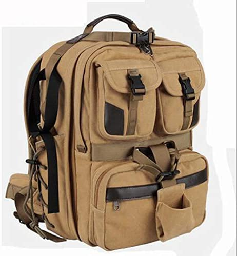 Large Capacity Canvas DSLR Camera Bag Backpack Outdoor Multi Function Photography