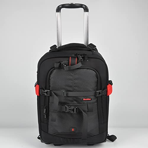 Soudelor Trolley Case Photography Backpack Draw bar Box Professional Large Capacity Camera