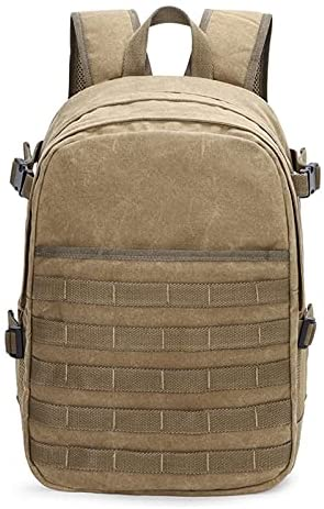 WCNMB Camera Bag Camera Retro Waterproof Canvas Bag Photography Shoulders Backpack fit 15.4in Laptop Travel Casual Case Men Carrying DSLR Case Fashionable and Convenient (Color : Khaki)